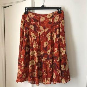 Women's floral pleaded skirt